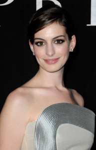 Anne Hathaway attends Giorgio Armani Prive Fashion Show during Paris Fashion Week Haute Couture SS 2010 at Palais de Chaillot on January 25th 2010 in France 2