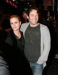 Anna Paquin and Stephen Moyer attend a fundraising concert by Radiohead for Oxfam Americas Haiti Relief fund on January 24th 2010 at The Music Box Theatre at The Fonda 3