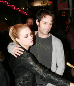 Anna Paquin and Stephen Moyer attend a fundraising concert by Radiohead for Oxfam Americas Haiti Relief fund on January 24th 2010 at The Music Box Theatre at The Fonda 2