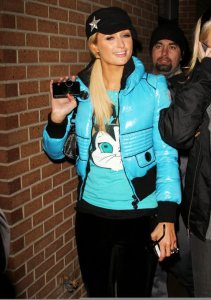 Paris Hilton spotted on January 23rd 2010 as she hangs out at night in Park City Utah 1