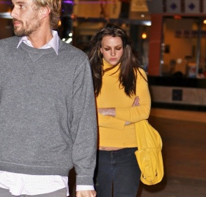 Britney Spears and her boyfriend Jason Trawick spotted on January 25th 2010 out together for a movie night date 3