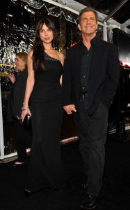 Mel Gibson and Oksana Grigorieva attend the Edge of Darkness premiere on January 26th 2010 at Graumans Chinese Theatre in Hollywood 2