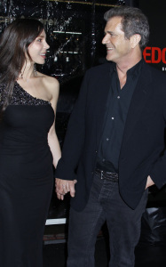 Mel Gibson and Oksana Grigorieva attend the Edge of Darkness premiere on January 26th 2010 at Graumans Chinese Theatre in Hollywood 1