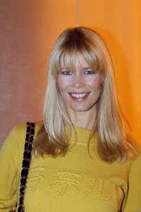 Claudia Schiffer spotted wearing a woolen yellow dress on January 26th 2010 while arriving at a Chanel Haute Couture Fashion show in Paris 4