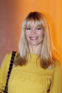 Claudia Schiffer spotted wearing a woolen yellow dress on January 26th 2010 while arriving at a Chanel Haute Couture Fashion show in Paris 3