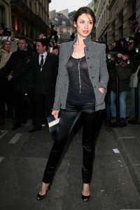 Olga Kurylenko spotted arriving at the Chanel runway show on January 26th 2010 during Paris Fashion Week 1