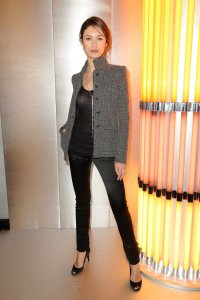 Olga Kurylenko spotted arriving at the Chanel runway show on January 26th 2010 during Paris Fashion Week 2