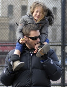 Hugh Jackman spotted with cute Ava after picking her up from school on January 26th 2010 in New York 3