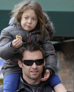 Hugh Jackman spotted with cute Ava after picking her up from school on January 26th 2010 in New York 8