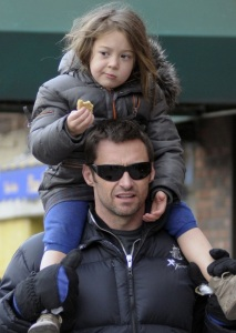 Hugh Jackman spotted with cute Ava after picking her up from school on January 26th 2010 in New York 2