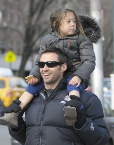 Hugh Jackman spotted with cute Ava after picking her up from school on January 26th 2010 in New York 1