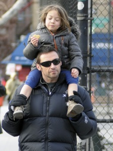 Hugh Jackman spotted with cute Ava after picking her up from school on January 26th 2010 in New York 5