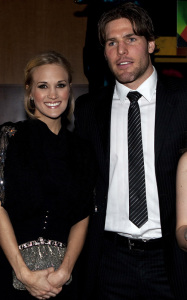 Carrie Underwood seen with her fiance Mike Fisher as they arrive at the annual Sens Soiree fundraiser at the Hilton Lac Leamy on January 25th 2010 in Gatineau Quebec 4