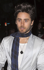 Jared Leto seen on January 28th 2010 as he arrives at the Calvin Klein Collection and Los Angeles Nomadic Divisions 1st Annual Celebration for LA Arts Contemporary event 1