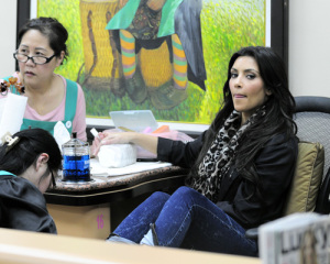 Kim Kardashian picture from her visit to the Nails Designs salon on January 28th 2010 in Beverly Hills 1