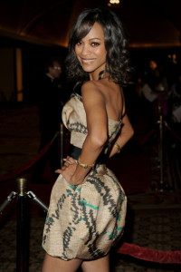 Zoe Saldana arrives at the 62nd Annual Directors Guild Of America Awards 2