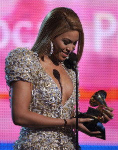 Beyonce Knowles accepts the Best Female Pop Vocal Performance award at the 52nd Annual GRAMMY Awards held at Staples Center on January 31st 2010 in Los Angeles California 4