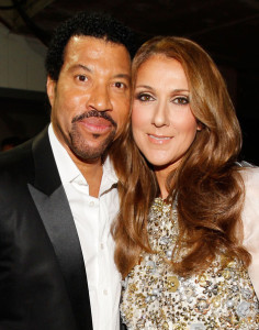 Celine Dion with Lionel Richie backstage during the 52nd Annual GRAMMY Awards held at Staples Center on January 31st 2010 in Los Angeles California 2