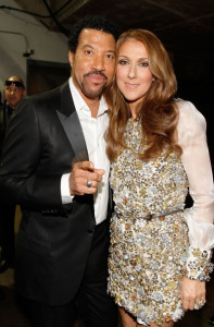 Celine Dion with Lionel Richie backstage during the 52nd Annual GRAMMY Awards held at Staples Center on January 31st 2010 in Los Angeles California 1