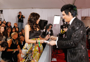 Adam Lambert arrives at the 52nd Annual GRAMMY Awards held at Staples Center on January 31st 2010 in Los Angeles California 1