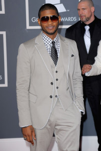 Usher arrives at the 52nd Annual GRAMMY Awards held at Staples Center on January 31st 2010 in Los Angeles California 4