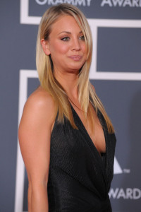 Kaley Cuoco arrives at the 52nd Annual GRAMMY Awards held at Staples Center on January 31st 2010 in Los Angeles California