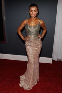 Melody Thornton arrives at the 52nd Annual GRAMMY Awards held at Staples Center on January 31st 2010 in Los Angeles California