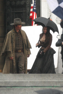 Megan Fox and Josh Brolin spotted on February 5th 2010 while filming scenes for the upcoming film Jonah Hex in Los Angeles 4