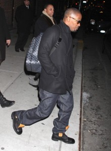 Jamie Foxx spotted on February 4th 2010 at the Late Show with David Letterman in New York City 2