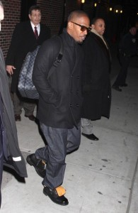 Jamie Foxx spotted on February 4th 2010 at the Late Show with David Letterman in New York City 1
