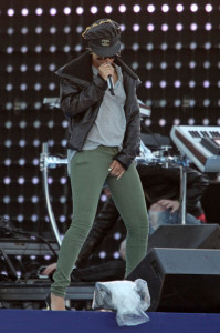 Rihanna spotted rehearsing for the the Pepsi Super Bowl Fan Jam concert on February 4th 2010  in South Beach 2