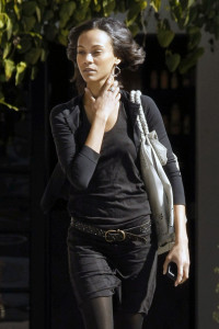 Zoe Saldana spotted coming out of the Andy Lecompte Salon on February 3rd 2010 in West Hollywood 4