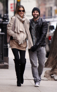 Alessandra Ambrosio and her husband Jamie Mazur seen walking together on February 2nd 2010 in the West Village in Downtown Manhattan 6
