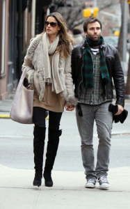 Alessandra Ambrosio and her husband Jamie Mazur seen walking together on February 2nd 2010 in the West Village in Downtown Manhattan 1