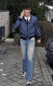 Cristiano Ronaldo was spotted on the steets of Madrid on his 25th birthday February 5th 2010 in Spain 5