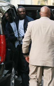 Akon spotted arriving at Jim Henson Studios to record We Are the World on February 1st 2010 in Hollywood