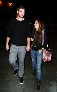 Miley Cyrus spotted with her boyfriend  Liam Hemsworth on February 2nd 2010 in Studio City 2