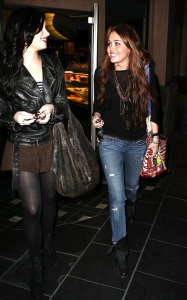 Miley Cyrus seen with Demi Lovato on February 2nd 2010 in Studio City 7