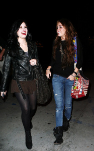 Miley Cyrus seen with Demi Lovato on February 2nd 2010 in Studio City 2