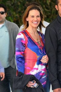 Hilary Swank spotted leaving her South Beach hotel to attend the Super Bowl XLIV on February 7th 2010 at the Sun Life Stadium in Miami Gardens Florida 1