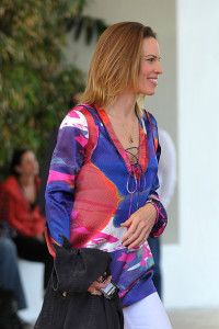 Hilary Swank spotted leaving her South Beach hotel to attend the Super Bowl XLIV on February 7th 2010 at the Sun Life Stadium in Miami Gardens Florida 2