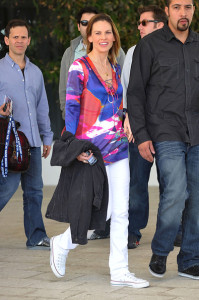 Hilary Swank spotted leaving her South Beach hotel to attend the Super Bowl XLIV on February 7th 2010 at the Sun Life Stadium in Miami Gardens Florida 5