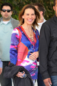 Hilary Swank spotted leaving her South Beach hotel to attend the Super Bowl XLIV on February 7th 2010 at the Sun Life Stadium in Miami Gardens Florida 4