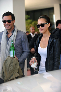 Jessica Alba and her husband Cash Warren seen together as they left their South Beach hotel to attends the Super Bowl XLIV on February 7th 2010 at the Sun Life Stadium in Miami Gardens Florida 5