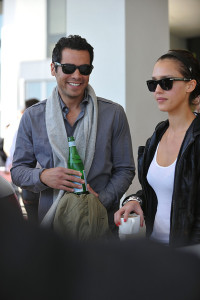 Jessica Alba and her husband Cash Warren seen together as they left their South Beach hotel to attends the Super Bowl XLIV on February 7th 2010 at the Sun Life Stadium in Miami Gardens Florida 3