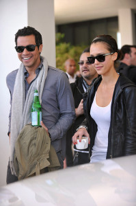 Jessica Alba and her husband Cash Warren seen together as they left their South Beach hotel to attends the Super Bowl XLIV on February 7th 2010 at the Sun Life Stadium in Miami Gardens Florida 1