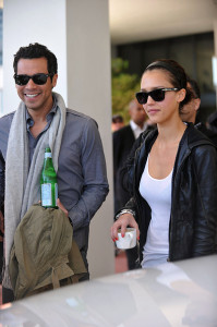 Jessica Alba and her husband Cash Warren seen together as they left their South Beach hotel to attends the Super Bowl XLIV on February 7th 2010 at the Sun Life Stadium in Miami Gardens Florida 6