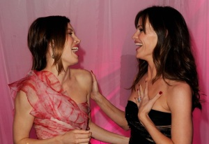 Jennifer Garner and Jessica Biel at the premiere of Valentines Day movie held on February 8th 2010 at Graumans Chinese Theatre in Hollywood 3