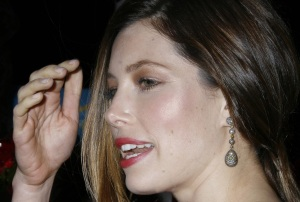 Jessica Biel attends the movie premiere of Valentines Day held on February 8th 2010 at Graumans Chinese Theatre in Hollywood 9