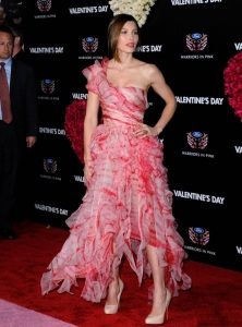 Jessica Biel attends the movie premiere of Valentines Day held on February 8th 2010 at Graumans Chinese Theatre in Hollywood 5